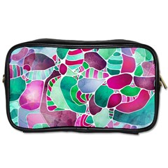 Frosted Sea Glass Toiletries Bags 2-Side