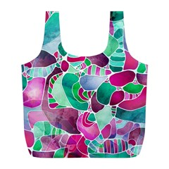 Frosted Sea Glass Full Print Recycle Bags (L)