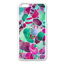 Frosted Sea Glass Apple iPhone 6 Plus/6S Plus Enamel White Case