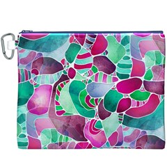 Frosted Sea Glass Canvas Cosmetic Bag (XXXL)