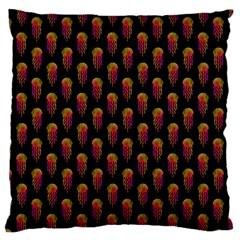 Jellyfish Large Black Large Cushion Case (One Side)