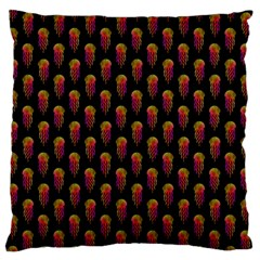 Jellyfish Large Black Standard Flano Cushion Case (One Side)