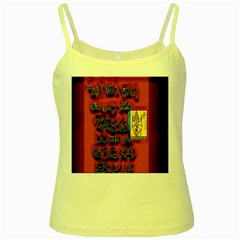 BIG RED SUN WALIN 72 Yellow Spaghetti Tank