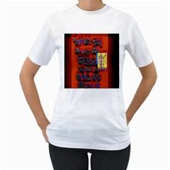 BIG RED SUN WALIN 72 Women s T-Shirt (White) (Two Sided)