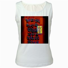 BIG RED SUN WALIN 72 Women s White Tank Top