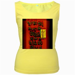 BIG RED SUN WALIN 72 Women s Yellow Tank Top
