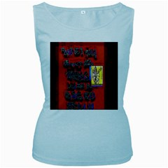 BIG RED SUN WALIN 72 Women s Baby Blue Tank Top