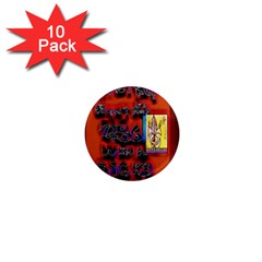 BIG RED SUN WALIN 72 1  Mini Magnet (10 pack)