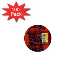 BIG RED SUN WALIN 72 1  Mini Buttons (100 pack)