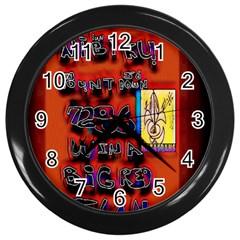 BIG RED SUN WALIN 72 Wall Clocks (Black)