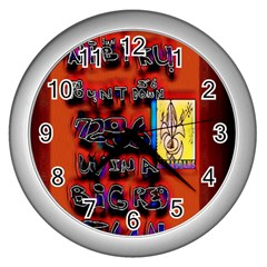 BIG RED SUN WALIN 72 Wall Clocks (Silver)