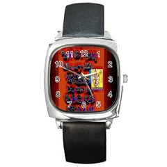 BIG RED SUN WALIN 72 Square Metal Watch