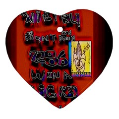 BIG RED SUN WALIN 72 Heart Ornament (Two Sides)