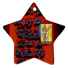 BIG RED SUN WALIN 72 Star Ornament (Two Sides)
