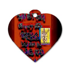 BIG RED SUN WALIN 72 Dog Tag Heart (One Side)