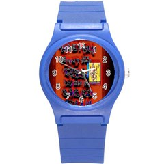BIG RED SUN WALIN 72 Round Plastic Sport Watch (S)
