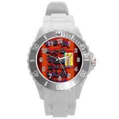 BIG RED SUN WALIN 72 Round Plastic Sport Watch (L)