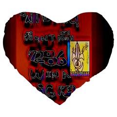 BIG RED SUN WALIN 72 Large 19  Premium Heart Shape Cushions
