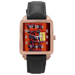 BIG RED SUN WALIN 72 Rose Gold Leather Watch