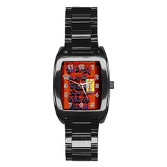 BIG RED SUN WALIN 72 Stainless Steel Barrel Watch