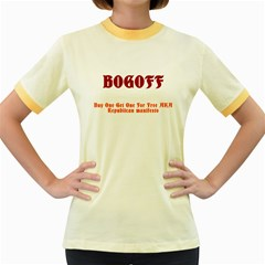 Bogoff Women s Fitted Ringer T-Shirts