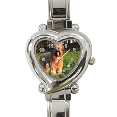 Full Briard Heart Italian Charm Watch