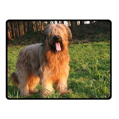 Full Briard Double Sided Fleece Blanket (Small)