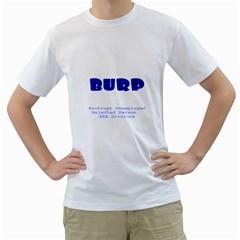 Burp Men s T-Shirt (White) (Two Sided)