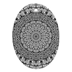 Mandala Boho Inspired Hippy Hippie Design Ornament (Oval)
