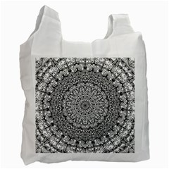 Mandala Boho Inspired Hippy Hippie Design Recycle Bag (Two Side)