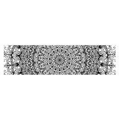 Mandala Boho Inspired Hippy Hippie Design Satin Scarf (Oblong)