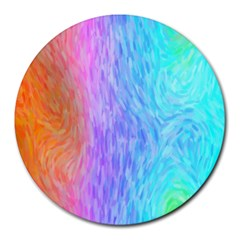 Abstract Color Pattern Textures Colouring Round Mousepads