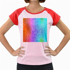 Abstract Color Pattern Textures Colouring Women s Cap Sleeve T Shirt