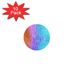 Abstract Color Pattern Textures Colouring 1  Mini Buttons (10 Pack)