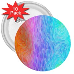 Abstract Color Pattern Textures Colouring 3  Buttons (10 Pack)