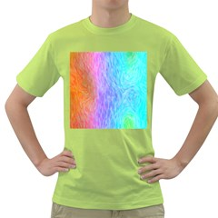 Abstract Color Pattern Textures Colouring Green T Shirt