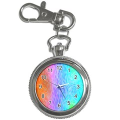 Abstract Color Pattern Textures Colouring Key Chain Watches