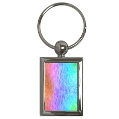 Abstract Color Pattern Textures Colouring Key Chains (Rectangle)