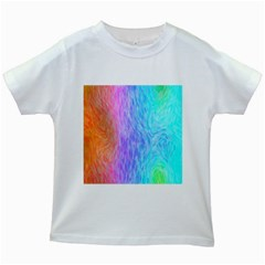 Abstract Color Pattern Textures Colouring Kids White T Shirts