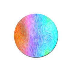 Abstract Color Pattern Textures Colouring Magnet 3  (Round)
