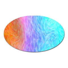 Abstract Color Pattern Textures Colouring Oval Magnet