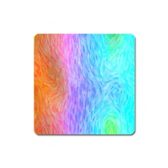 Abstract Color Pattern Textures Colouring Square Magnet