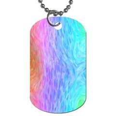 Abstract Color Pattern Textures Colouring Dog Tag (one Side)