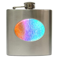 Abstract Color Pattern Textures Colouring Hip Flask (6 Oz)