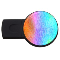 Abstract Color Pattern Textures Colouring Usb Flash Drive Round (2 Gb)