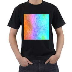 Abstract Color Pattern Textures Colouring Men s T Shirt (black) (two Sided)