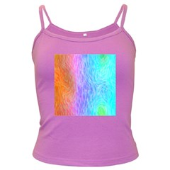 Abstract Color Pattern Textures Colouring Dark Spaghetti Tank