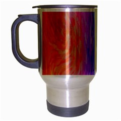 Abstract Color Pattern Textures Colouring Travel Mug (Silver Gray)