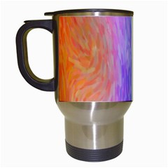Abstract Color Pattern Textures Colouring Travel Mugs (White)