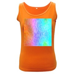 Abstract Color Pattern Textures Colouring Women s Dark Tank Top
